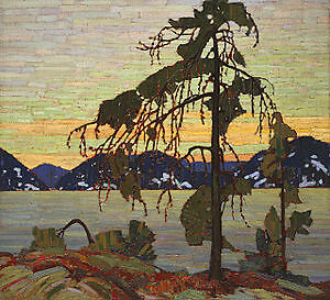 Group of Seven Tom Thomson, Jack Pine Reproduction on canvas fra