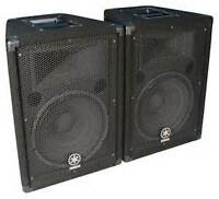 2 x yamaha br12 Stage speakers