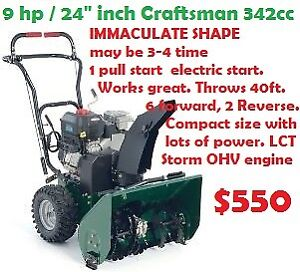 """10.5 hp / 29"""" Craftsman 342cc Snowblower Commercial great"""