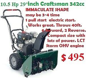 "10.5 hp / 29"" Craftsman 342cc Snowblower Commercial great"