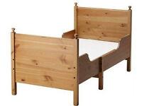 IKEA Leksvik extendable child toddler children's children bed frame with slatted base