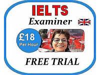 Online IELTS Examiner/Tutor - £18 per hour FREE 15 min Trial- British English Teacher Skype Lessons