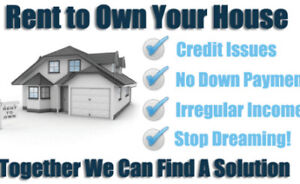 Trouble buying a home due to credit issues? Rent to own solution