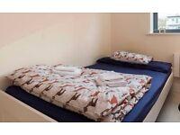 Ikea Brimnes Standard Double Bed, white + Mattress Hamarvik + Protector