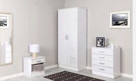 3 Piece Wardrobe Set White
