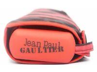 Jean Paul Gaultier stripped folding umbrella black/red, brand new unused
