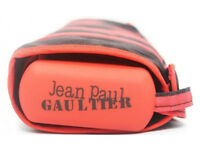 Jean Paul Gaultier stripped folding umbrella black/red, brand new unused