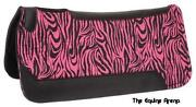 Pink Zebra Saddle Pad