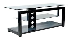 Glass Metal TV Media Entertainment Stand