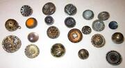 Antique Glass Button Lot