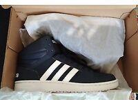 Adidas Hoops Mid Nubuck Mens High/Hi Tops (UK 9) Navy/White