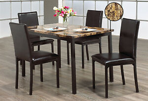 5 Pcs Marble Dining Table Set (Great  price Pay on delivery)