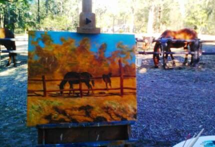 How to paint horses workshop - Blackbutt Qld