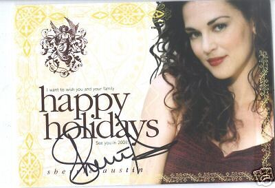 Signed 2000 Sherrie Austin Photo Christmas Card