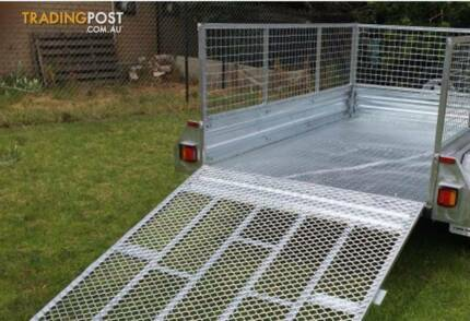 8x5 GALVANISED HOT DIPPED TANDEM AXLE BOX TRAILER (NEW) WITH 600m