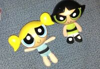 2 small powerpuff dolls for sale