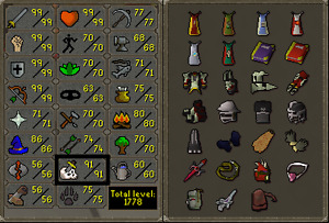 Max melee runescape account