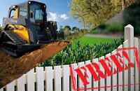 SKID STEER SERVICES, FENCE INSTALLATION, LANDSCAPING, GRADING