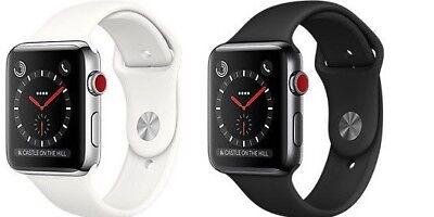 Apple Watch Series 3 38Mm 42Mm Gps Cellular 4G Aluminum Stainless Sport Band
