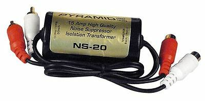 PYRAMID NS20 15 AMP CAR AUDIO RCA NOISE FILTER SUPPRESSOR ISOLATION TRANSFORMER
