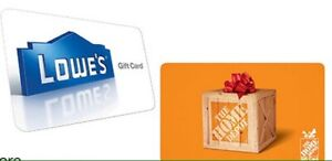 Wanted Lowes Home Depot and Costco Gift Cards