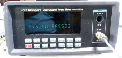 Newport 2832-c Dual Channel Optical Power Meter Pass Self Test