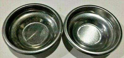 Used Portafilter Insert Cup Basket - For 7 Gram Espresso Pods Set Of 2 1001