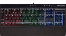 Corsair k55 RGB Gaming Keyboard - Media Keys included