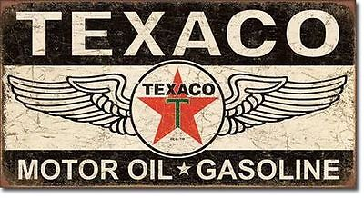Texaco Motor Oil US Schild Auto Werkstatt Tankstelle Gasoline Reklame