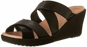 Crocs Women's A Leigh Crisscross Wedge Sandal Size 11