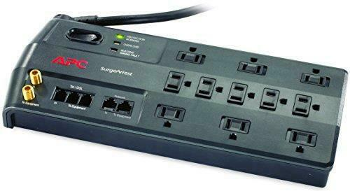 APC Surge Protector with Phone, Network Ethernet and Coaxial Protection,