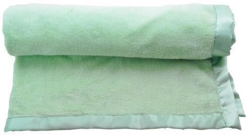 Baby Blankets With Satin Trim Ebay