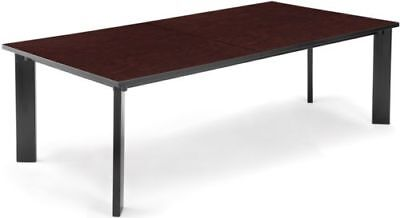 36d X 72w Conference Office Table With Metal Frame And Mahogany Laminate Top