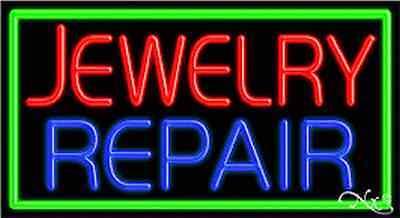 Brand New Jewelry Repair 37x20 Wborder Real Neon Sign Wcustom Options 11085