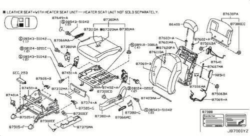 Infiniti Fx35 Seat Ebay