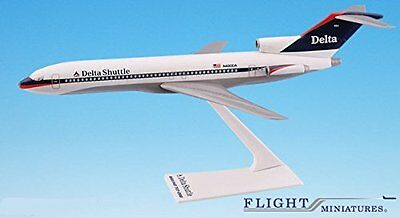 Delta Shuttle (97-00) Boeing 727-200 Airplane Miniature Model Plastic Snap Fit