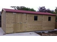 Large Shed, Brand New Garden Shed, 12ft x 8ft Dutch Barn Style from £1,578.00