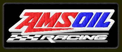 "AMSOIL RACING EMBROIDERED PATCH ~4-1/2""x 1-7/8"" RICAMATO BORDADO PARCHE AUFNÄHER"
