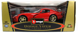DIECAST 1/18 BURAGO GOLD SERIES 1996 DODGE VIPER GTS COUPE