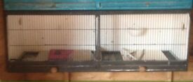 Canary double breeding cages