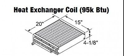 Central Boiler Heat Exchanger Coil 95k Btu