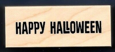 HAPPY HALLOWEEN Party Card Word Invite NEW INKADINKADO Fall Holiday RUBBER STAMP](Halloween Invitations Wording)