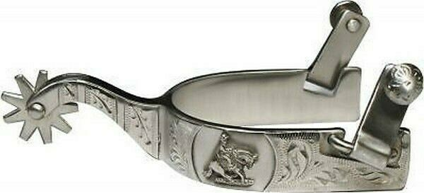 Showman Stainless Steel Western Spurs w/ Reining Horse Band! NEW HORSE TACK!!