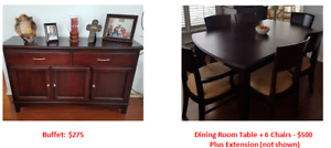 Moving Sale - Dining Room Furniture