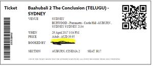 Bahubali movie tickets telugu in Auburn Cinemas Artarmon Willoughby Area Preview