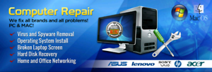 Computer and laptop repair in  @ HOME OR OFFICE