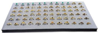 12 Grey 72 Ring Jewelry Display Liner Insert Pads 14 34 X 7 34