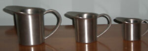3 Aitkens Pewter Creamer/Cup with handles