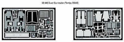 (Eduard 1/35 Quad Gun Tractor designed to be used with Tamiya kit  # 35444)