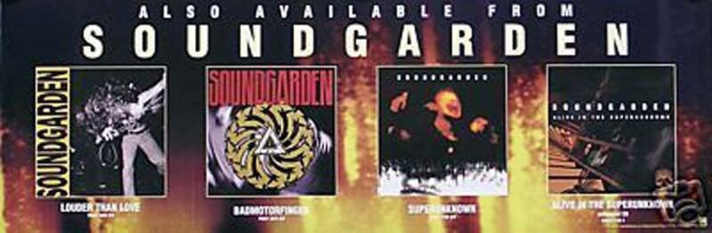 Soundgarden Chris Cornell 1996 Down On The Upside Original Promo Poster
